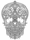 Line art Skull