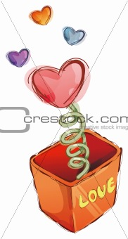 box and  heart