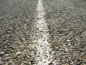 old asphalt road