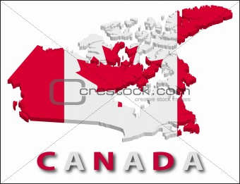 Canada territory with flag texture.