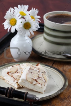 Czech nougat and coffee