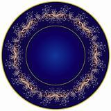 Dark blue plate