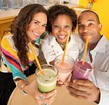 Friends Holding Smoothies