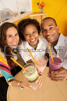Three People Dining Out