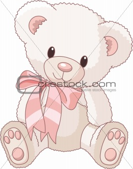 Cute Teddy Bear with bow
