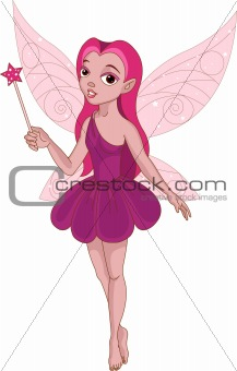 Beautiful winged fairy