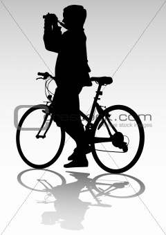 Cyclist and camera