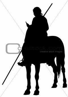 Knight with a spear on horseback