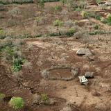 Aerial view of a Tanzanian house