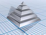 Silver Layered Pyramid