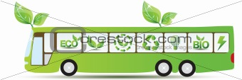 Green environmental bus