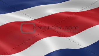 Costa Rican flag in the wind