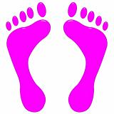 3D Pink Feet