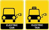 Electric car / Electric taxi - sign
