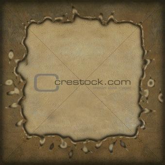 Grunge frame on parchment background