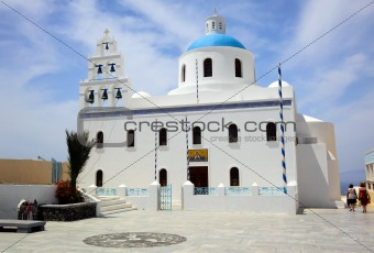 A church in Oia, Santorini, Greece