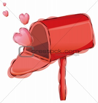 Postbox and heart