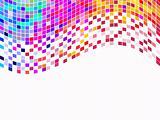 Colorful square pixels