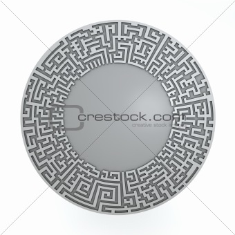 Grey radial maze without solution.