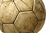 old leather ball