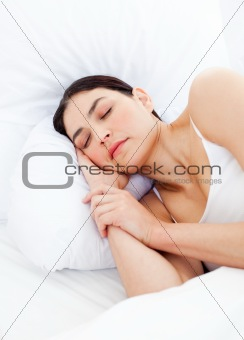 Portrait of an charming woman sleeping
