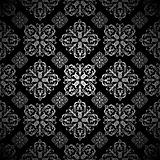 Floral wallpaper silver tile