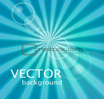 Background with rays, vector
