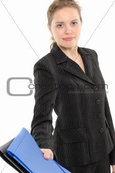 Business woman, giving a folder