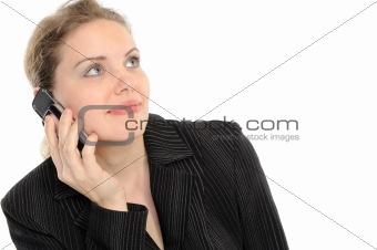 Beautiful woman speaks by phone