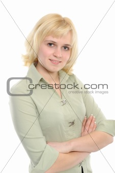 Positive young woman