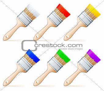 Paint brushes.