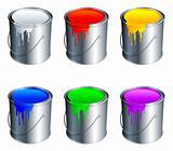 Paint buckets.