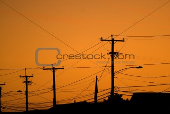Power Line Silhouettes