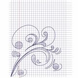 Note paper with floral ornament