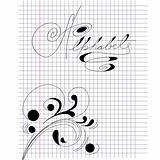 Note paper with inscription Alphabet
