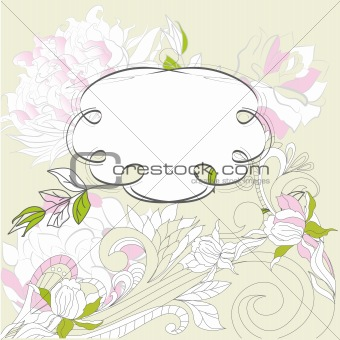 Romantic frame with flowers