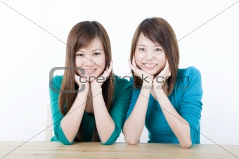 asian adults smiling