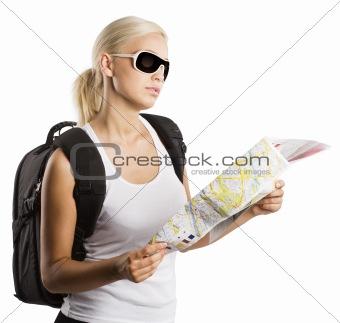 blond tourist