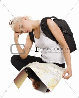 sleeping tourist