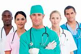 Portrait of multi-ethnic medical team