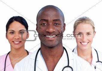 Portrait of charismatic medical team
