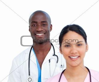 Portrait of two charismatic doctors