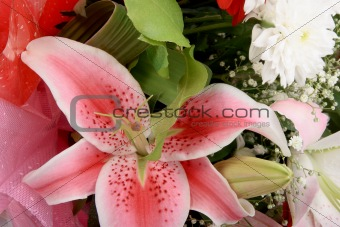 Bouquet with pink lily
