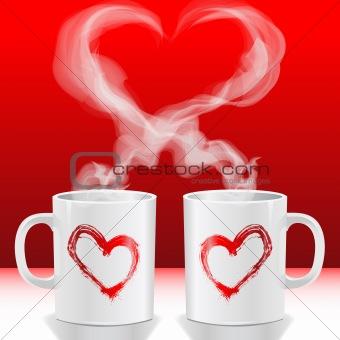 Valentine love's cups