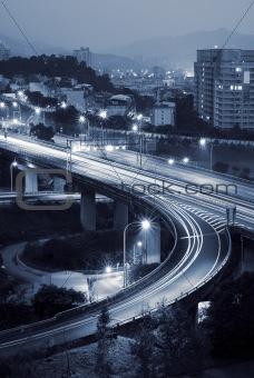Cityscape of interchange