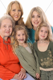 shot of four generations picture vertical