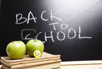 Back to school - inscription on blackboard
