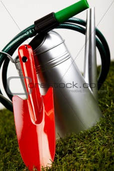 Watering Can And Gardening Tools