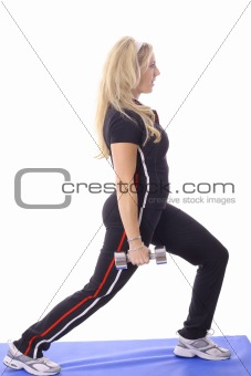 shot of a blonde working out