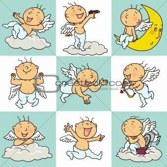 9 angel in action icons